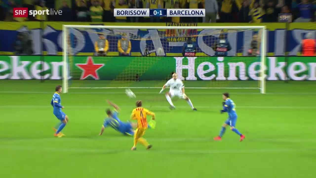 Fussball: Champions League, 3. Runde, Borissow - Barcelona