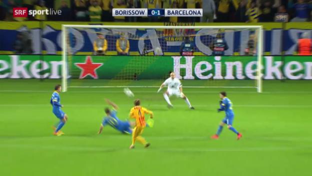 Video «Fussball: Champions League, 3. Runde, Borissow - Barcelona» abspielen