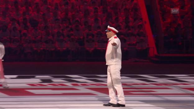 Video «Sotschi: Eröffnungsfeier, Auftritt Nikolai Walujew («Sotschi direkt», 07.02.14)» abspielen