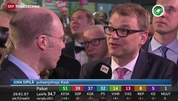 Video «Juha Sipilä wird wohl Finnlands neuer Premierminister» abspielen