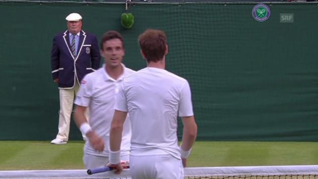 Video «Tennis: Matchball Murray - Bautista-Agut (Quelle: SNTV)» abspielen