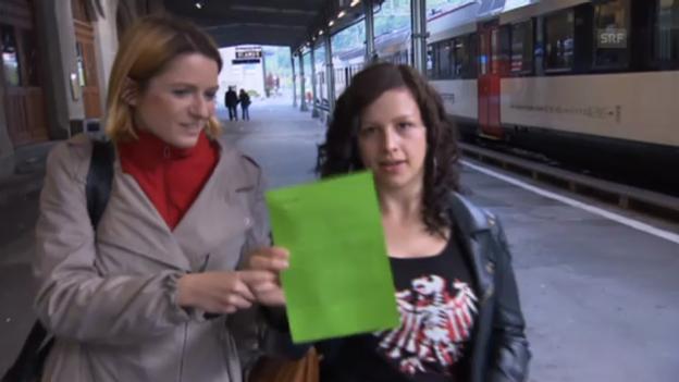 Video «Suzanne Tschudi darf zum ersten Mal abstimmen» abspielen