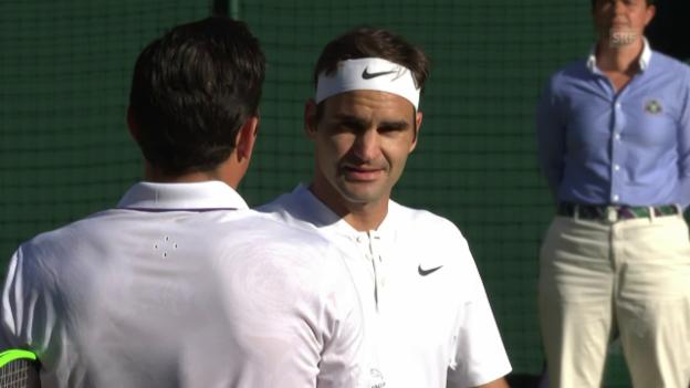 Video «Federer - Raonic: Livehighlights» abspielen