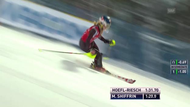 Video «Mikaela Shiffrin holt sich den Sieg in Levi» abspielen