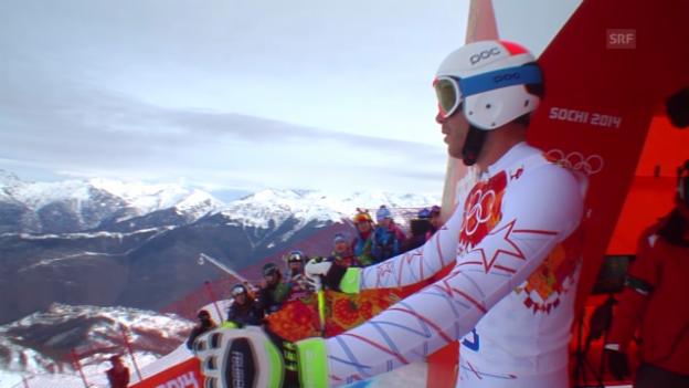 Video «Sotschi: Ski, Abfahrt Männer, Fahrt von Miller» abspielen