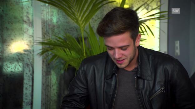 Video «Luca Hänni reagiert auf sein «Literal Video»» abspielen