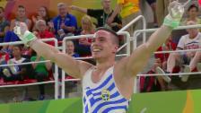 Video «Petrounias ist neuer Olympiasieger an den Ringen» abspielen