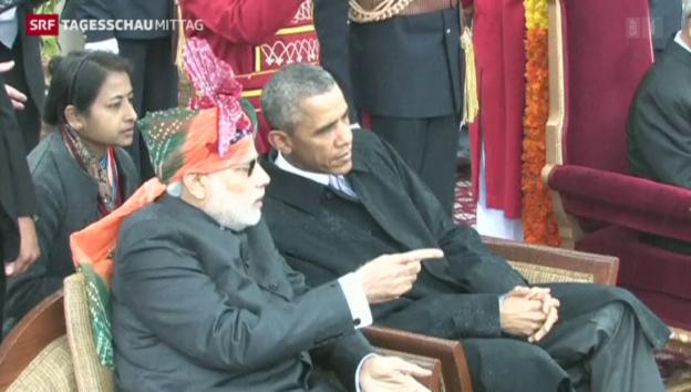 Video «Obama besucht Indien am Nationalfeiertag» abspielen