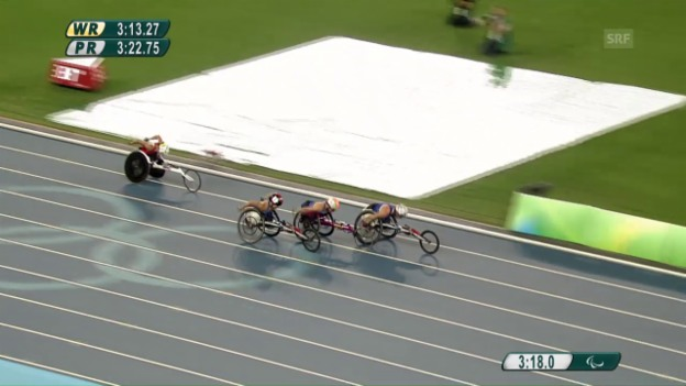 Video «Das 1500-Meter-Rennen von Manuela Schär» abspielen