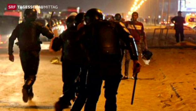 Video «Tote beim Fussballspiel in Kairo» abspielen