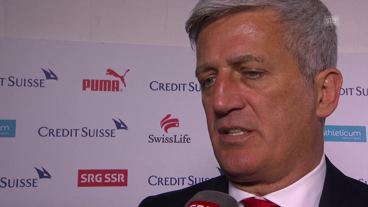 Fussball: EURO 2016, Qualifikation, Schweiz – Estland, Interview mit Vladimir Petkovic