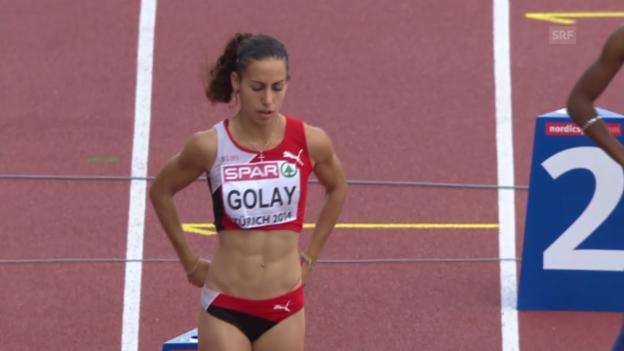Video «200 m Frauen: Golay im Vorlauf» abspielen