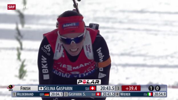 Video «Biathlon: Weger enttäuscht, Selina Gasparin vorne dabei» abspielen