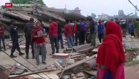 Video «Starkes Nachbeben erschüttert Nepal » abspielen