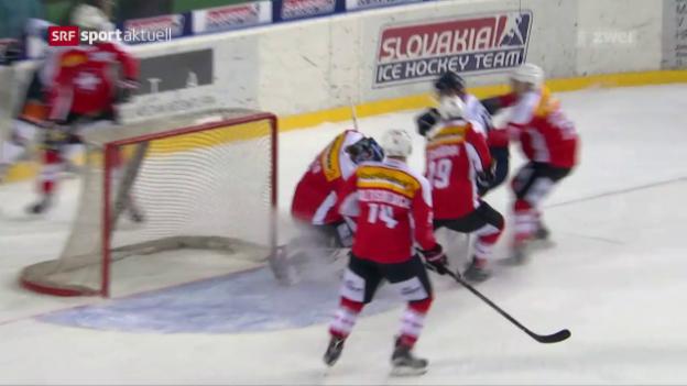 Video «Schweiz schlägt Slowakei auch im 2. Spiel» abspielen