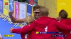 Video «Schweizer Triathlon-Staffel holt Silber» abspielen