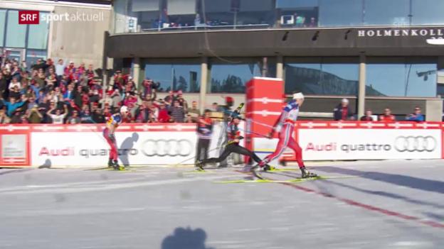 Video «Langlauf: 50 km der Männer in Oslo» abspielen