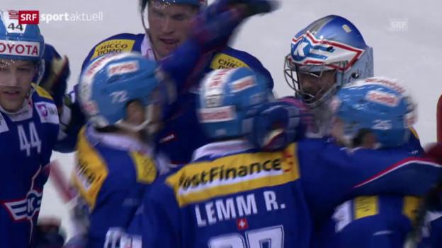 Video «Eishockey: Playoff-Viertelfinals, Spiel 3, Kloten-Davos («sportaktuell», 15.3.14)» abspielen