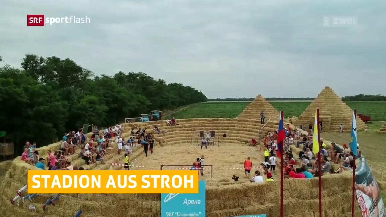 Impressionen von der Strohfussball-WM