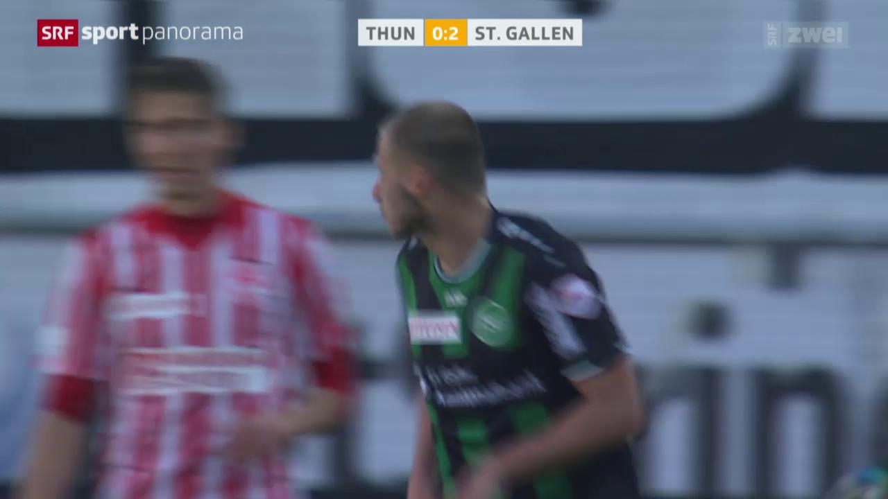 Fussball: Super League, Thun - St.Gallen