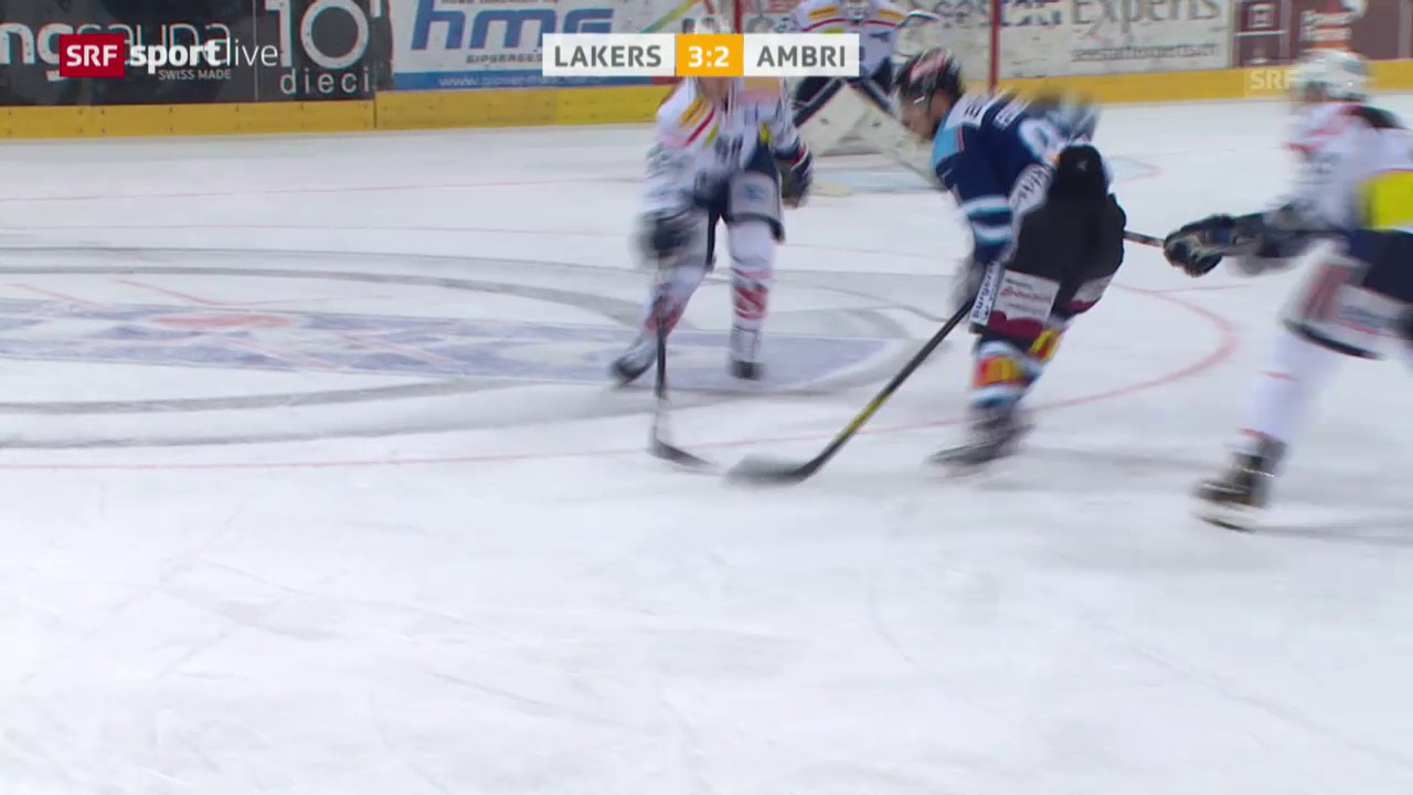 Eishockey: Playout, Lakers - Ambri