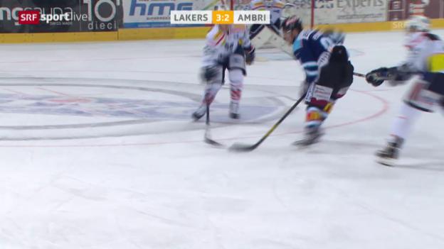 Video «Eishockey: Playout, Lakers - Ambri» abspielen