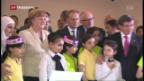 Video «Merkel besucht türkisches Flüchtlingslager» abspielen