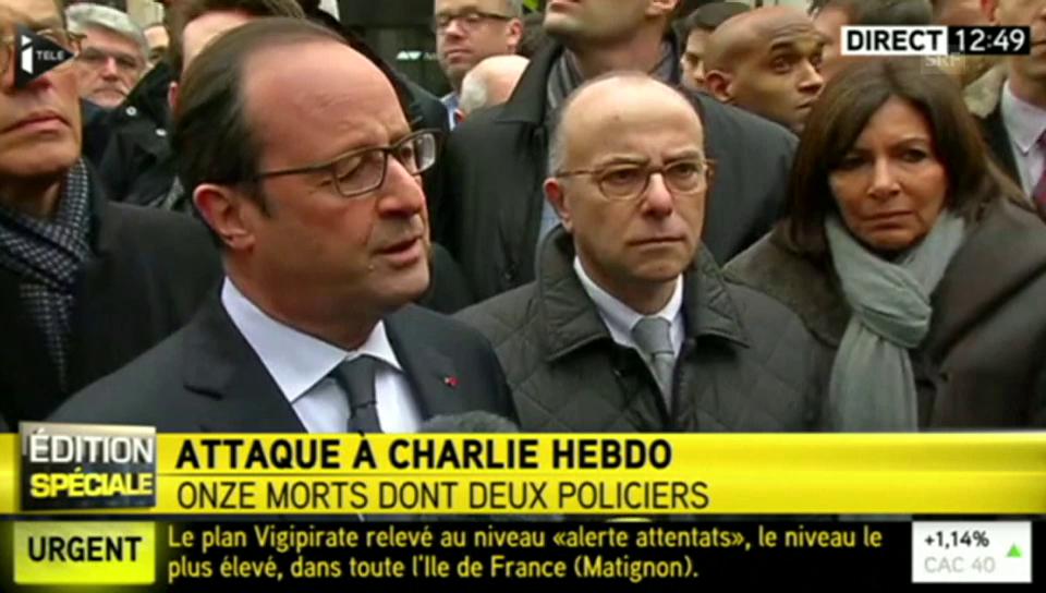 François Hollande zum Anschlag in Paris