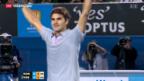 Video «Federer von Tsonga stark gefordert» abspielen