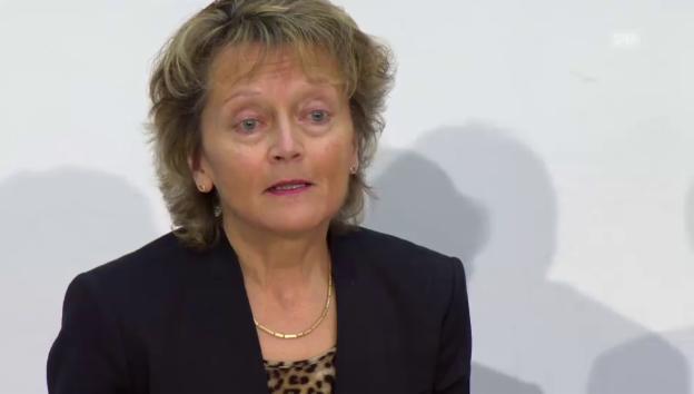 Video «Video: Widmer-Schlumpf erklärt ihren Rücktritt» abspielen