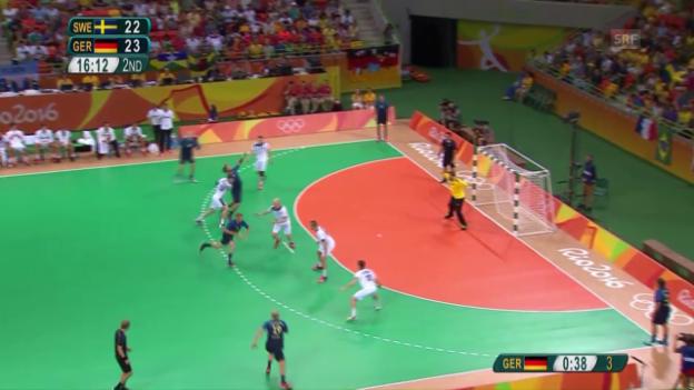 Video «Handball-Knüller: Deutschland schlägt Schweden» abspielen