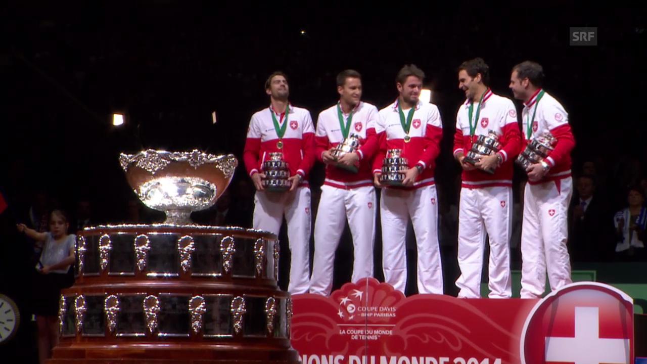 Davis Cup: Highlights Siegerehrung