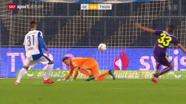 Video «Fussball: Super League, GC-Thun» abspielen