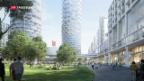 Video «Neues Basler Quartier mit drei Wohntürmen» abspielen