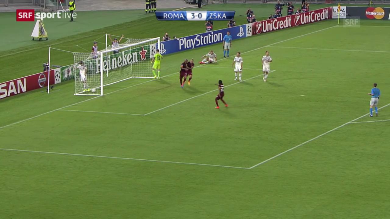 Fussball: Champions League Gruppenphase, Roma - ZSKA Moskau