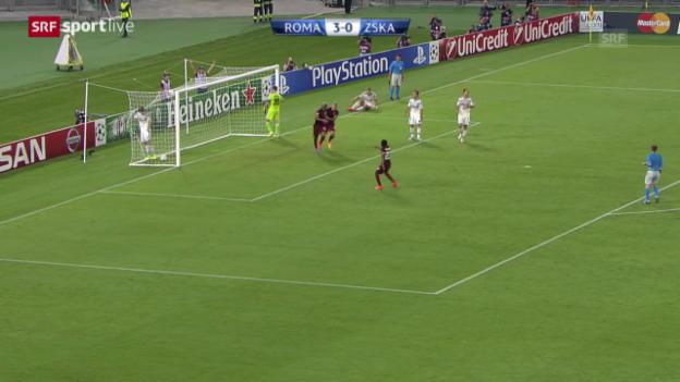 Video «Fussball: Champions League Gruppenphase, Roma - ZSKA Moskau» abspielen