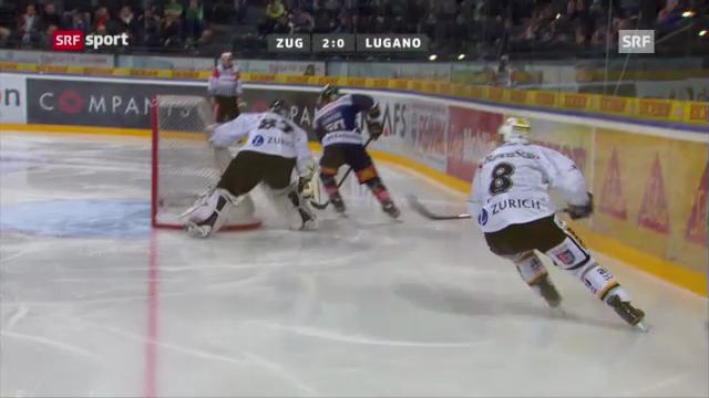 Eishockey. EVZ-Lugano