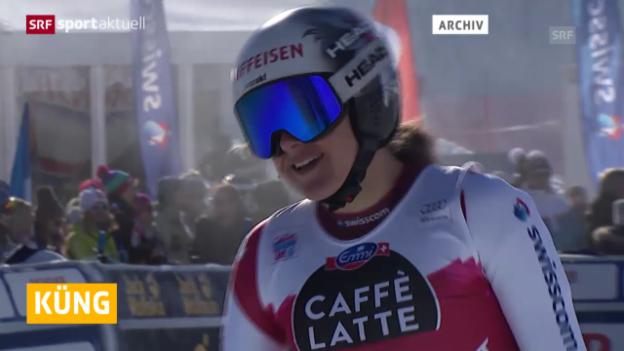 Video «Ski alpin: Zwangspause für Mirena Küng («sportaktuell»)» abspielen