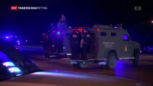 Video «Proteste und neue Gewalt gegen Polizisten in den USA» abspielen