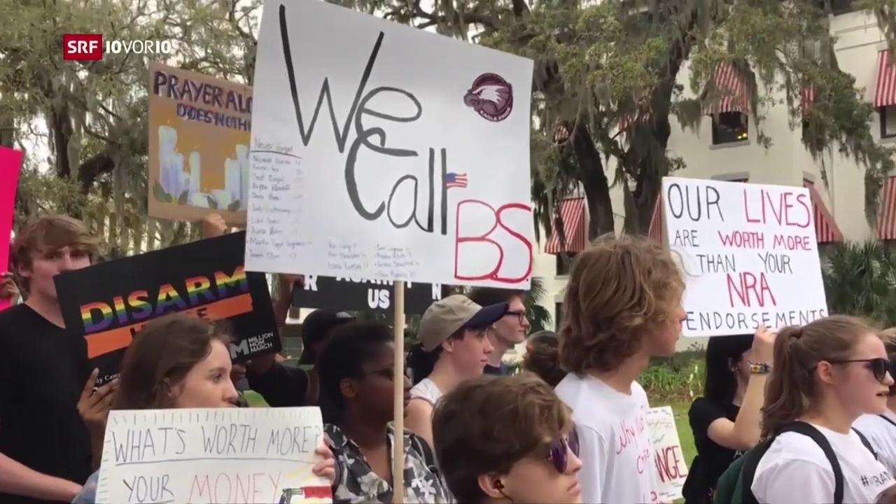 Trump trifft nach Schulmassakern Schüler und Lehrer