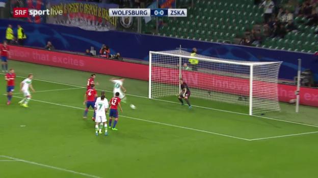 Video «Fussball: Champions League, Zusammenfassung Wolfsburg - ZSKA Moskau» abspielen