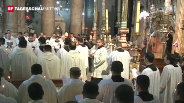 Video «Orthodoxes Osterfest in Jerusalem im Jahr 2011» abspielen