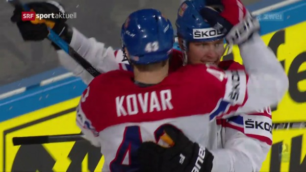 Video «Tschechien feiert Minisieg gegen Norwegen» abspielen