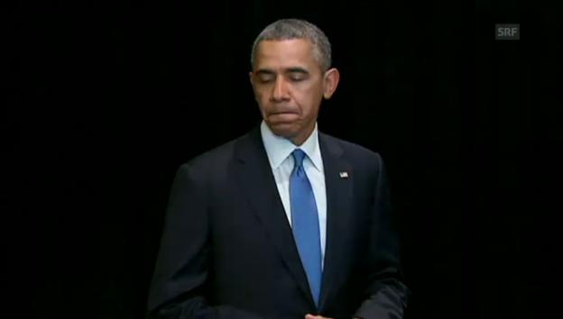 Video «Präsident Obama spricht sein Beileid aus (engl.)» abspielen