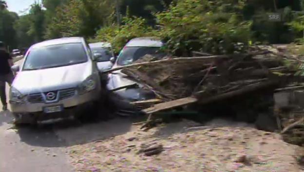 Video «Vier Tote nach Starkregen in Italien (unkommentiert)» abspielen