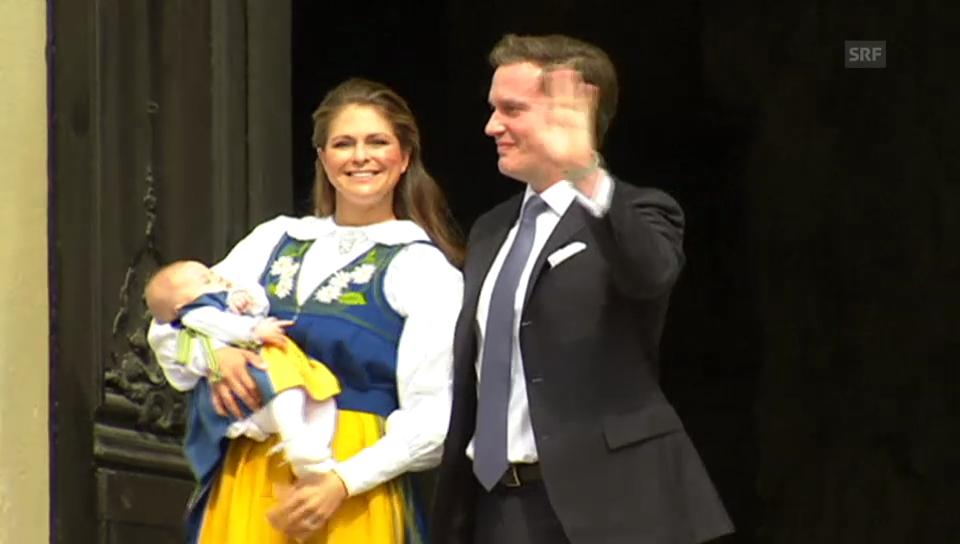 Prinzessin Leonores erster öffentlicher Auftritt in Schweden