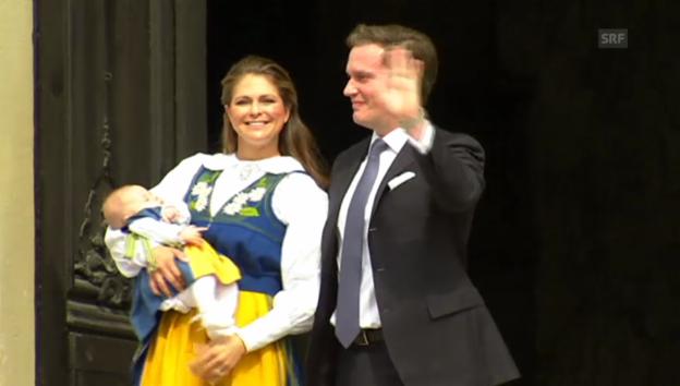 Video «Prinzessin Leonores erster öffentlicher Auftritt in Schweden» abspielen