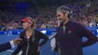 Video «Bencic und Federer sorgen für Lacher» abspielen