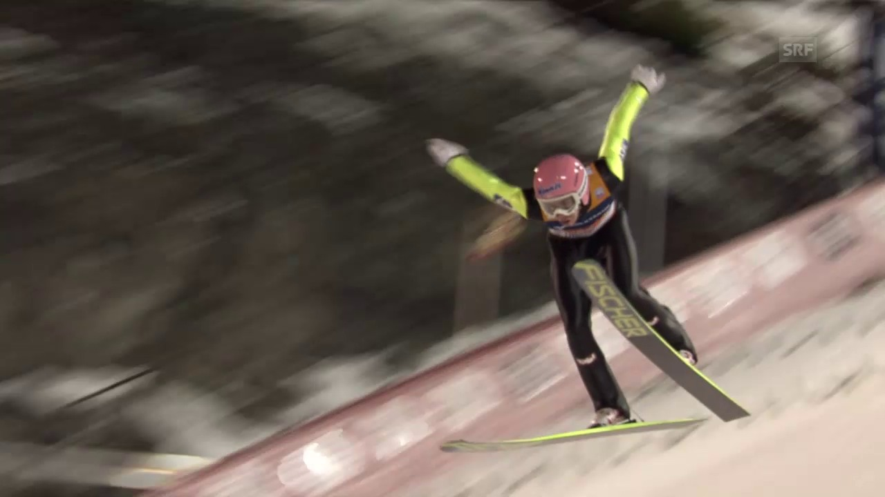Skispringen: Weltcup Trondheim, 2. Sprung Kraft