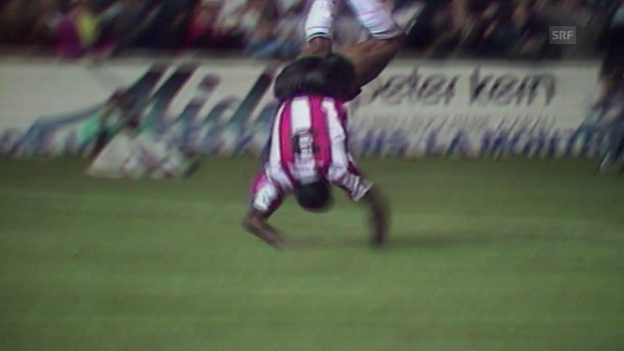 Fussball: Wie Mapuata seine Tore feierte